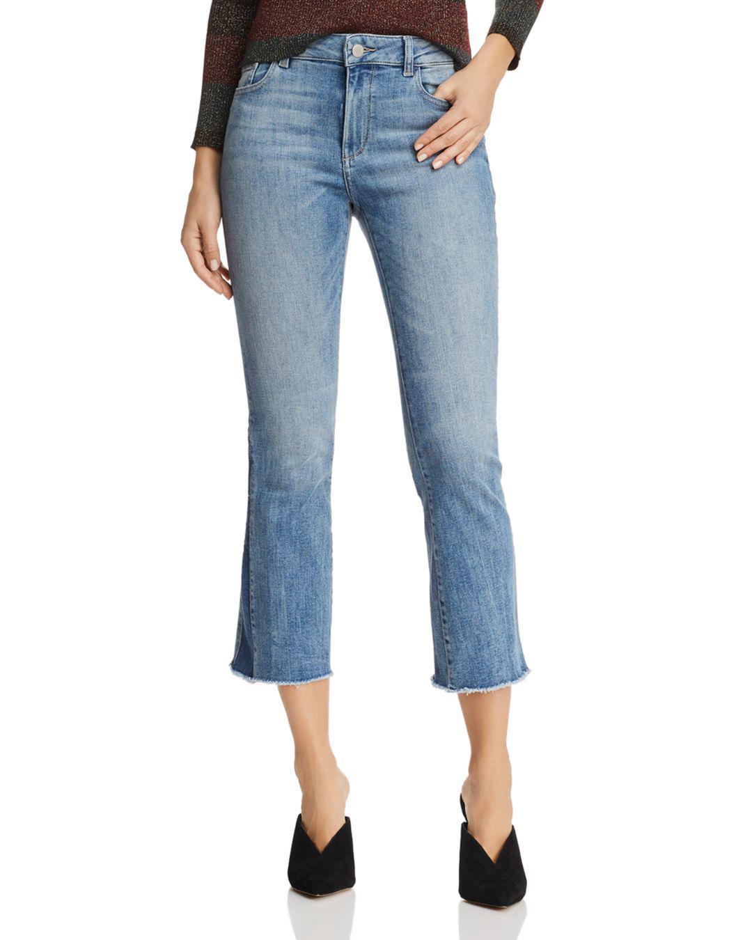 b8b22206 Lyst - DL1961 Instasculpt Bridget Crop Flare Jeans In Milton in Blue