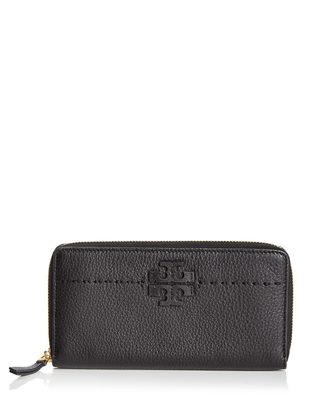 34a65fe371e2 Lyst - Tory Burch Mcgraw Zip Leather Continental Wallet