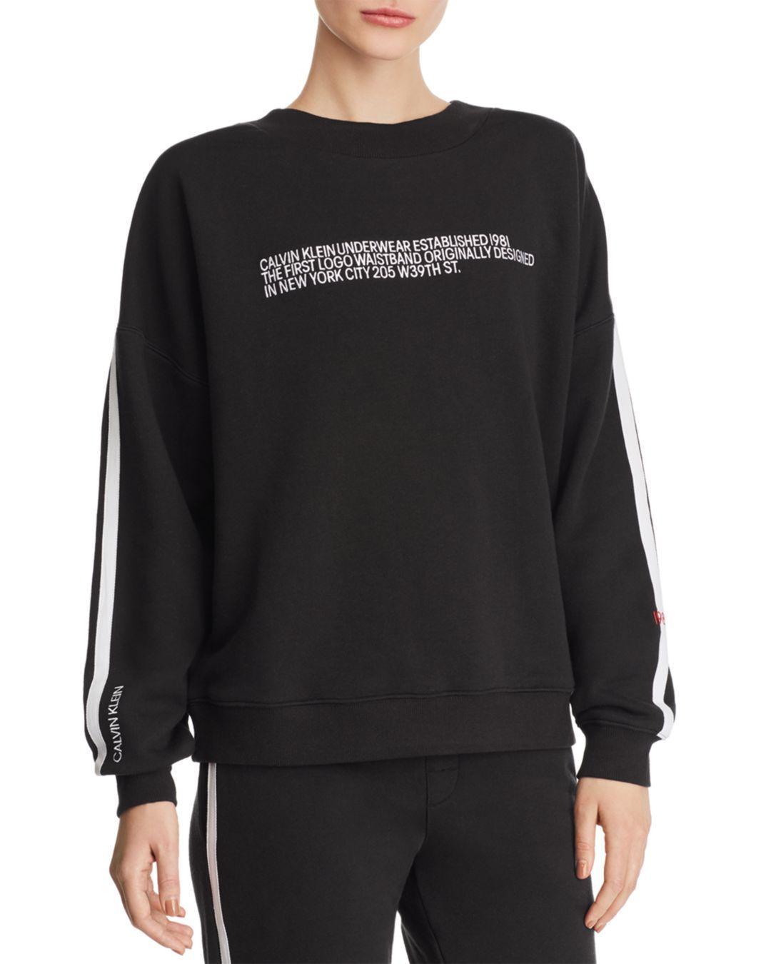 63cf79075a3 Calvin Klein - Gray Statement 1981 Sweatshirt - Lyst. View fullscreen