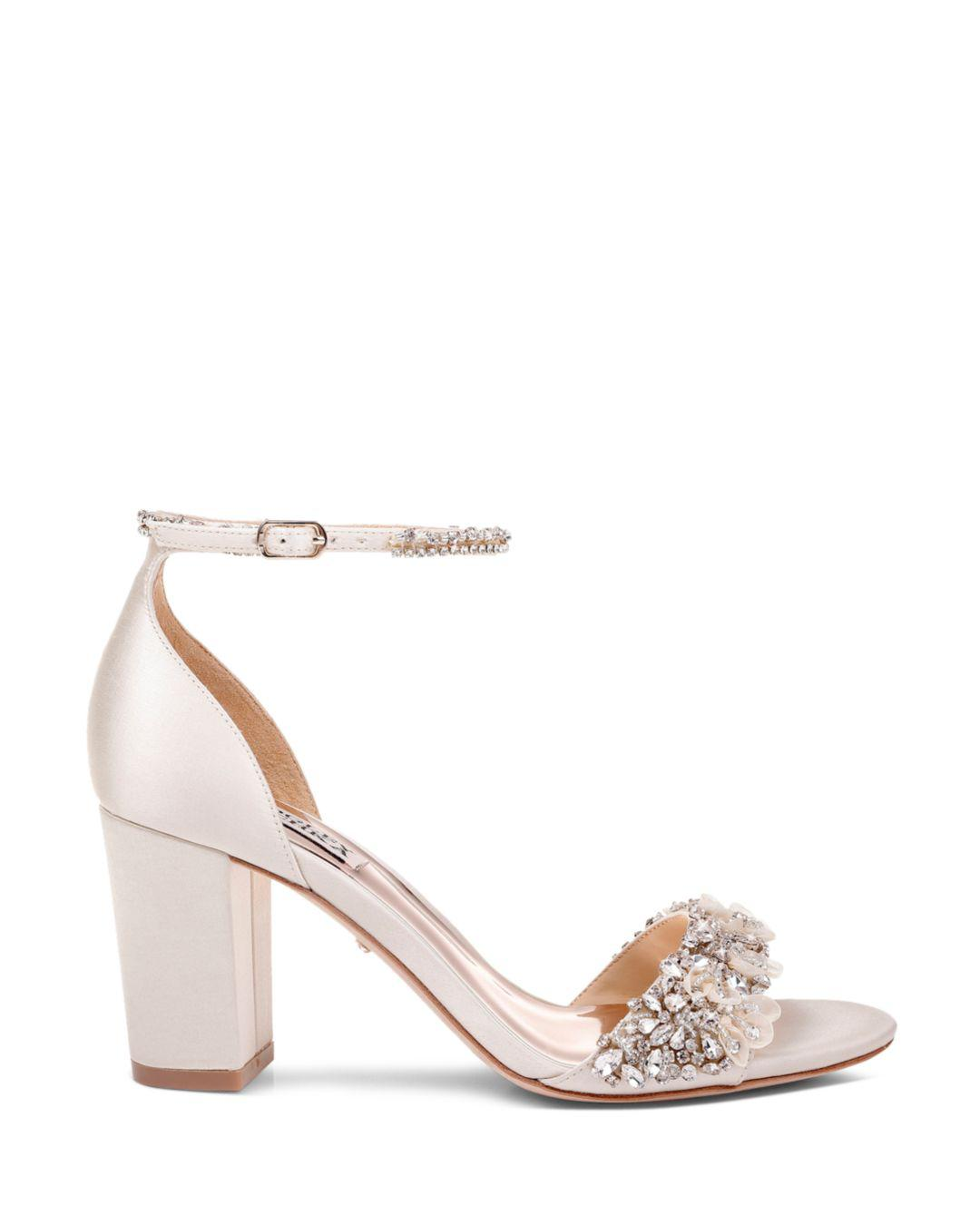 1a5e976a338 Lyst - Badgley Mischka Finesse Evening Sandals in White