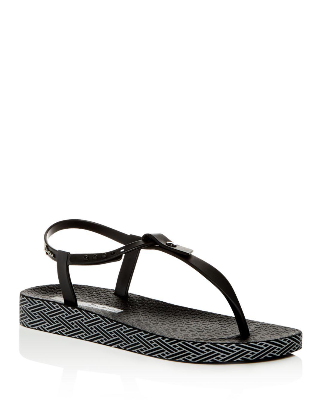 27067003d Lyst - Ipanema Women s Plushweave Wedge Thong Sandals in Black