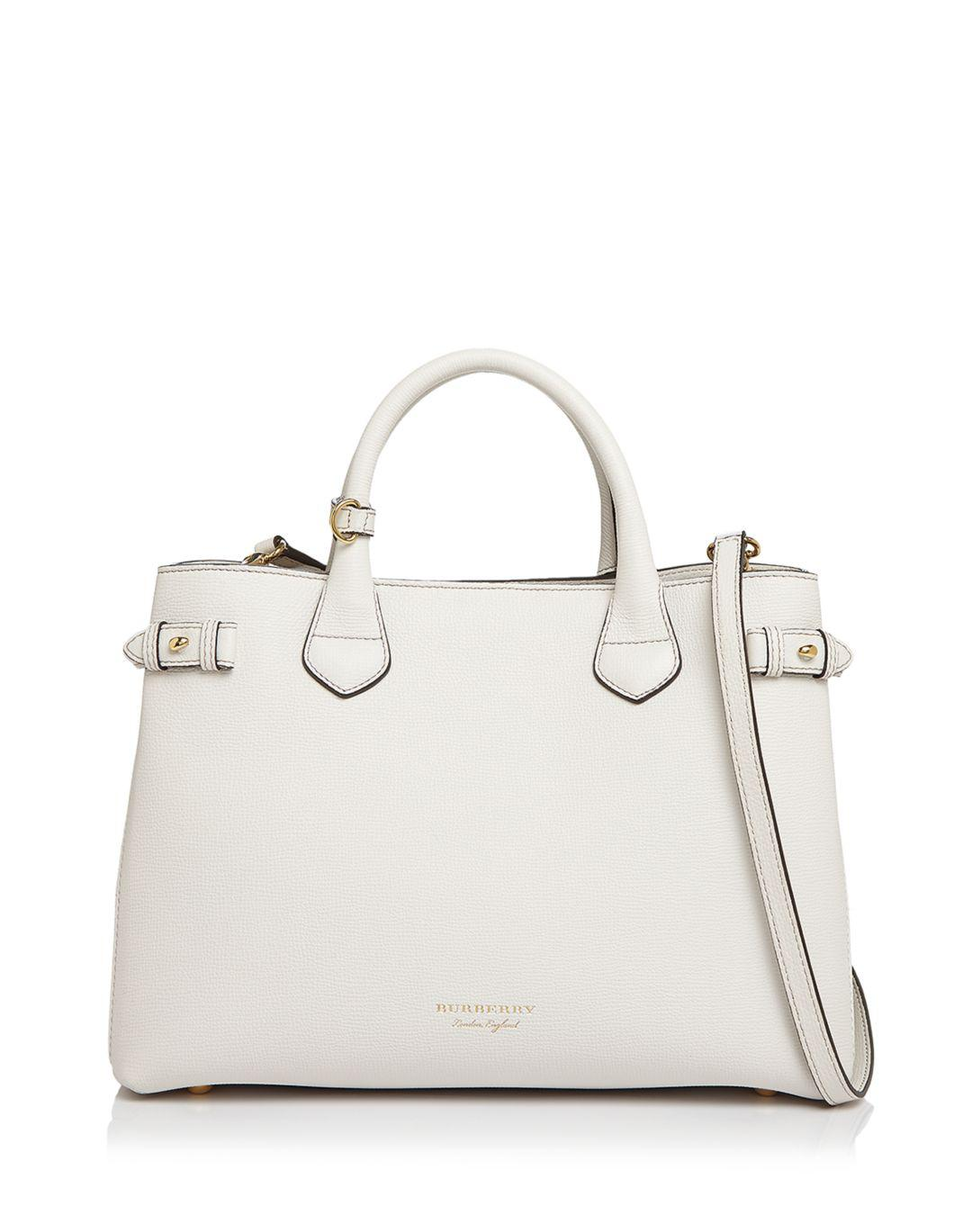 516772df6dc5 Burberry - Multicolor Banner House Check Medium Leather Tote - Lyst. View  fullscreen