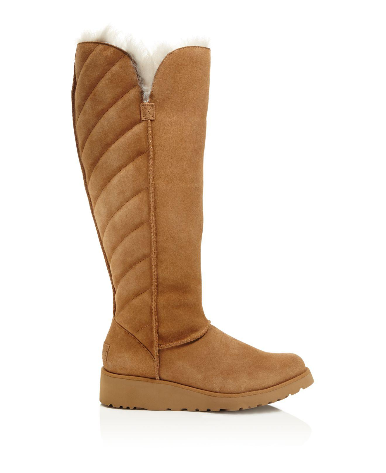 82c5050f650 Lyst - UGG Rosalind Quilted Tall Boots in Brown