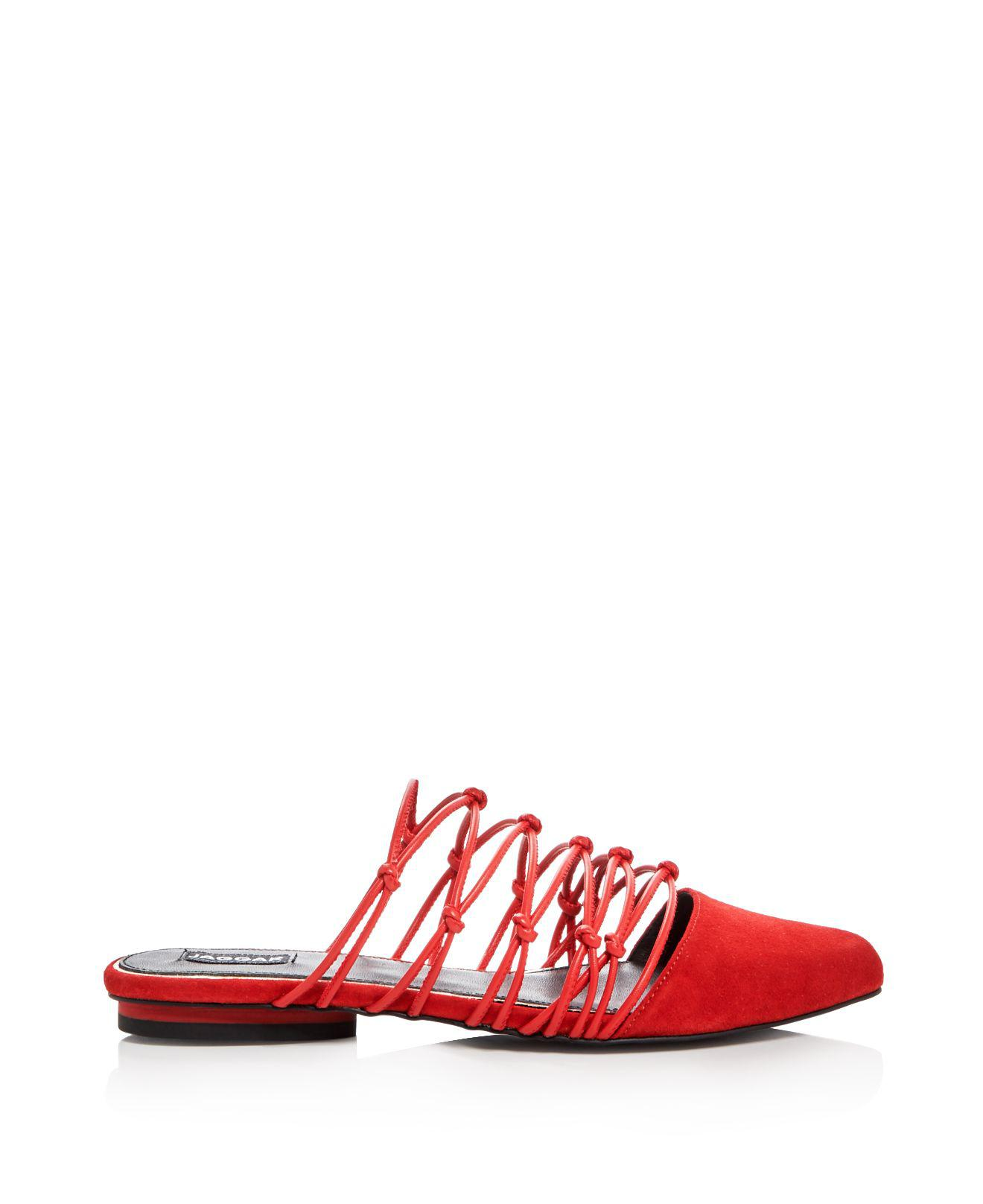 JAGGAR Series Strappy Knotted Mules Shipping Discount Authentic Looking For Cheap Price 2018 Cheap Price Genuine WtyBEDpPLc
