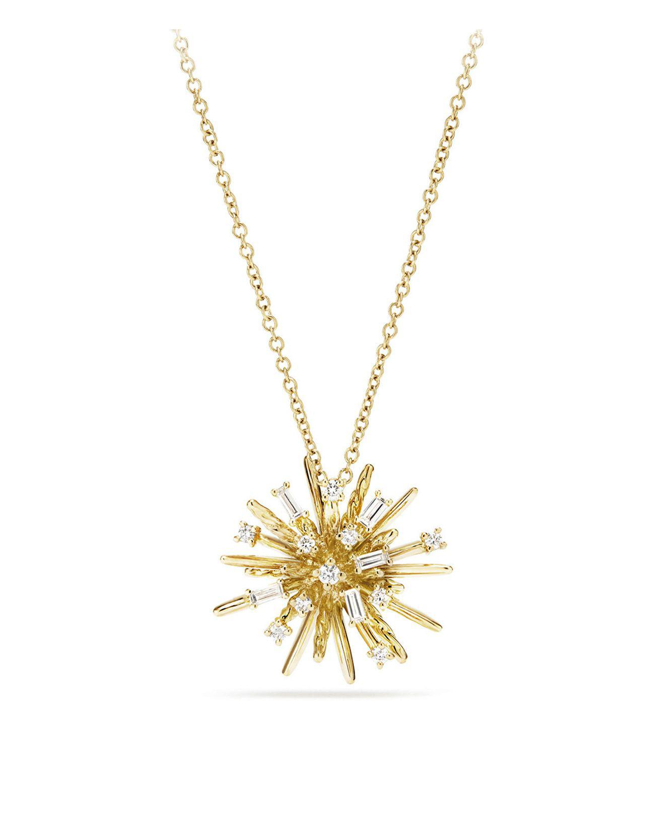 Outlet Choice Extremely Cheap Price 18kt yellow gold Crossover diamond pendant necklace - Metallic David Yurman Discount 2018 wkGtI