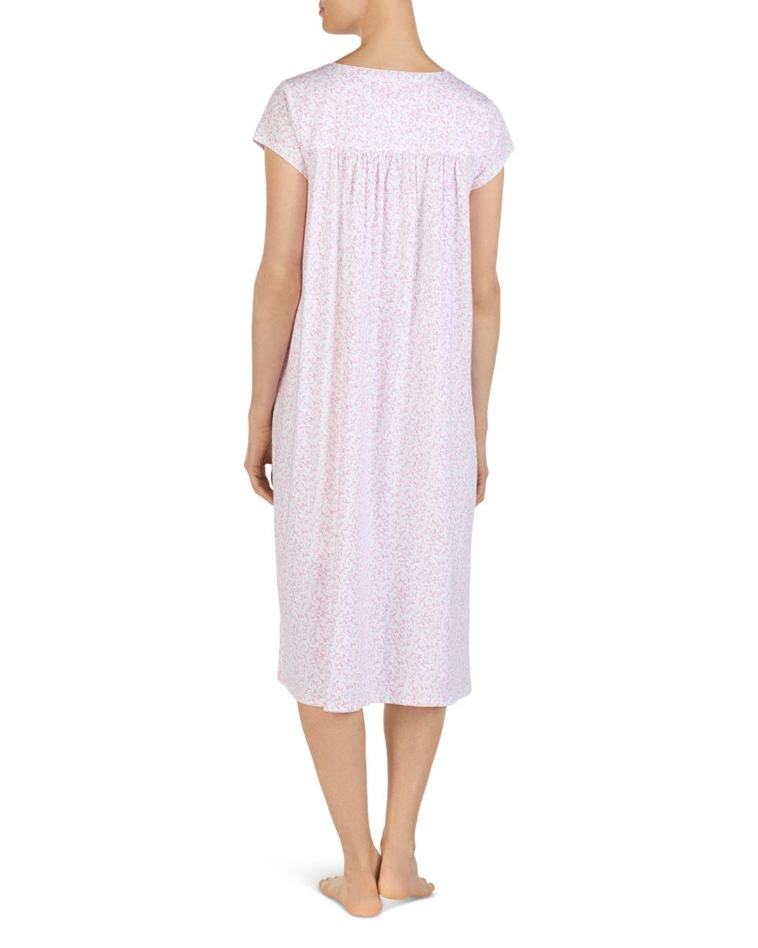 1d1e951bc9 Lyst - Eileen West Ballet Floral Print Cap Sleeve Nightgown in Pink