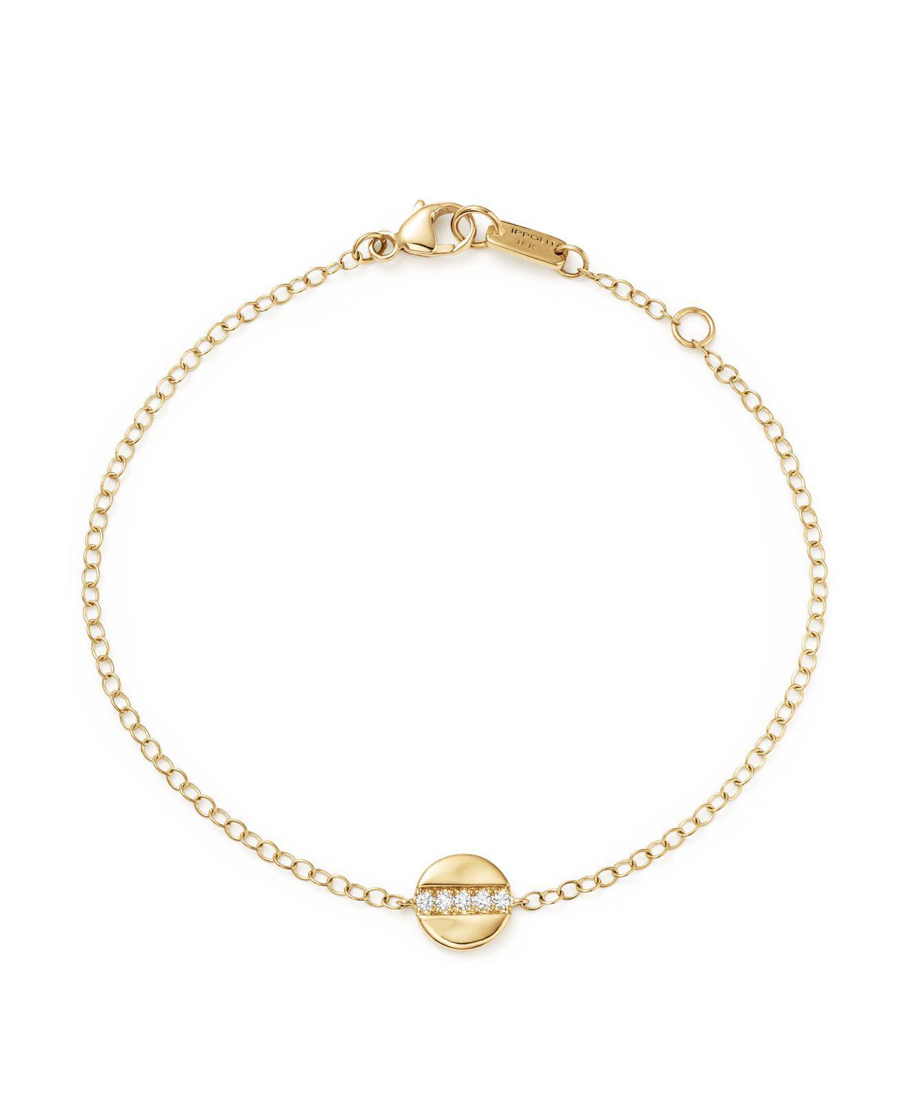 Ippolita 18K Senso Mini Disc Bracelet with Diamonds UrihmhKJi