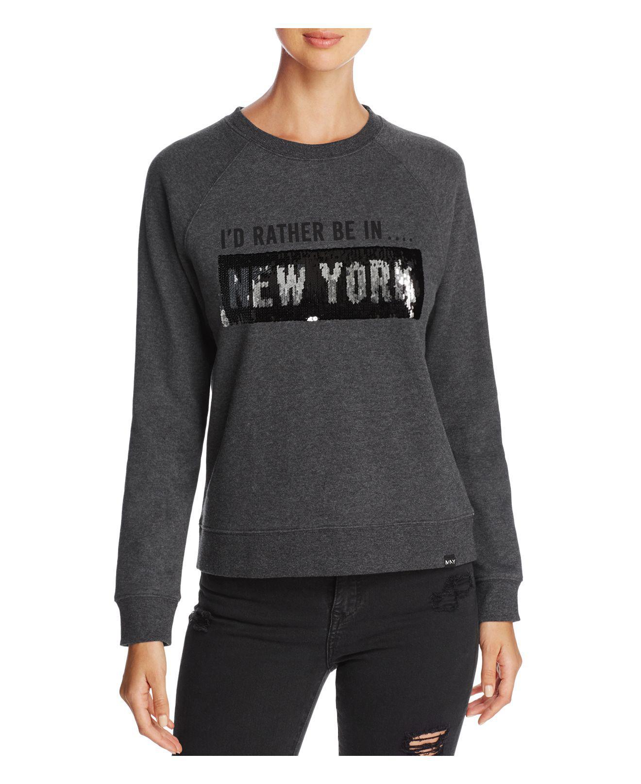 New York Performance: Marc New York Performance Sequin Graphic Sweatshirt