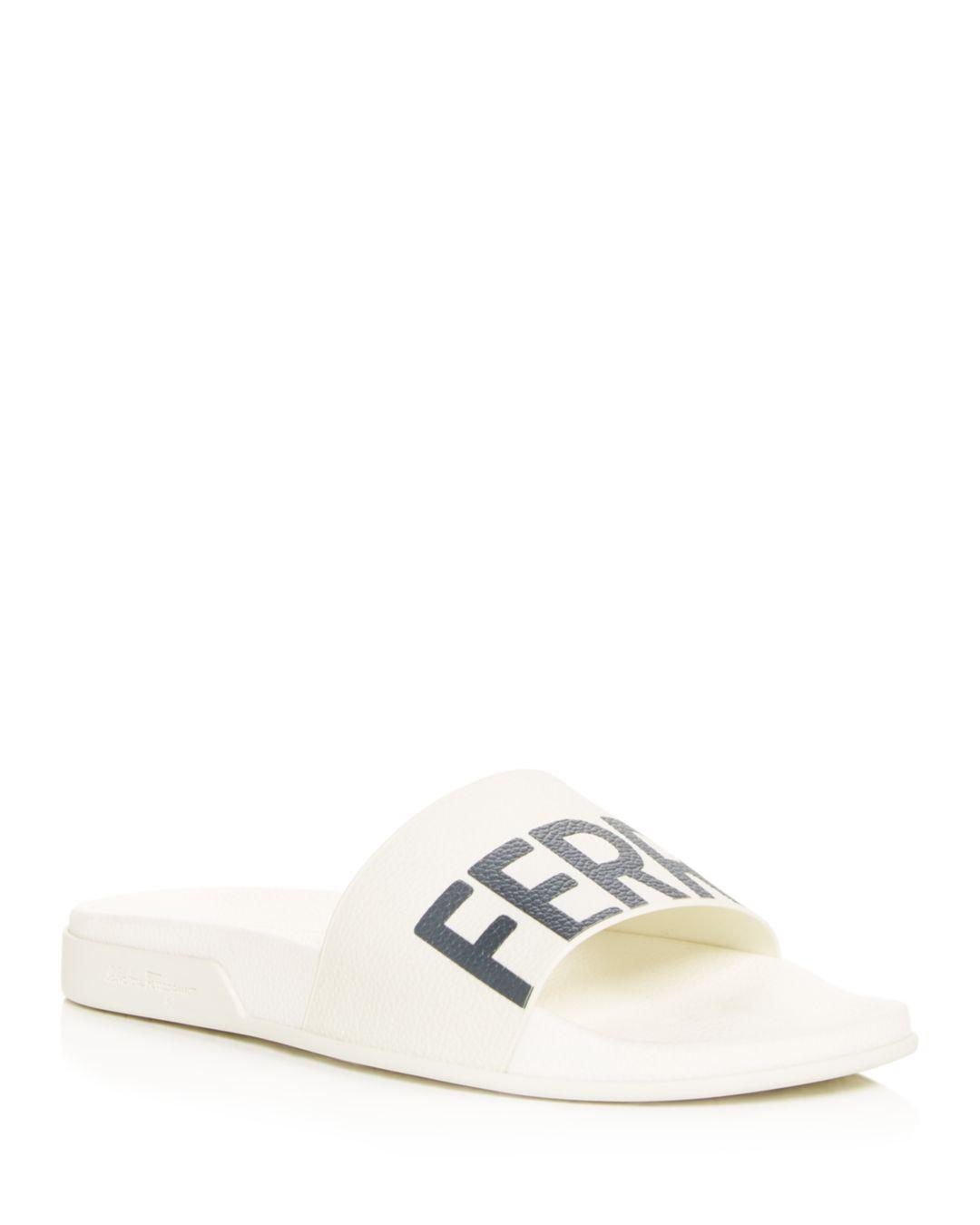 0cbda777bb6f Lyst - Ferragamo Men s Amos Slide Sandals in White for Men