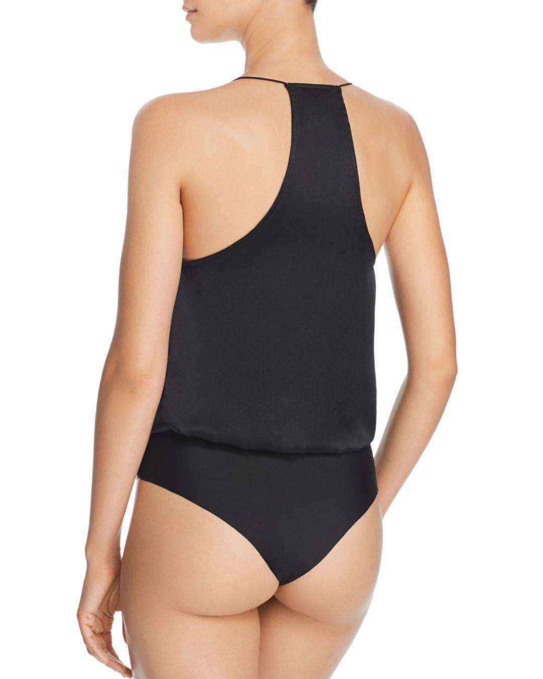 2ab3b1511b1d Lyst - Cami NYC Courtney Lace-inset Blouson Bodysuit in Black