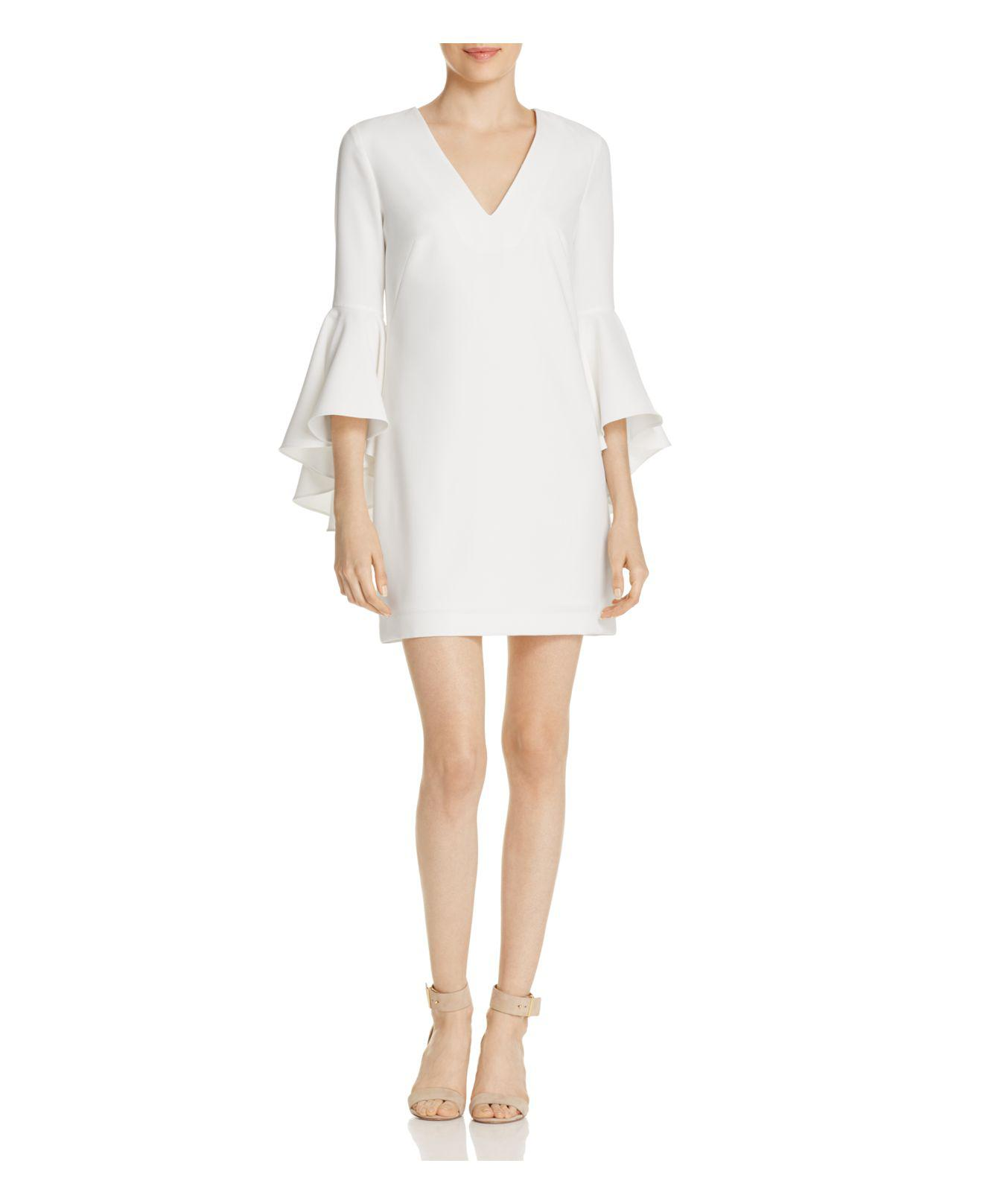 58be49be12 Lyst - MILLY Bell-sleeve Nicole Dress in White