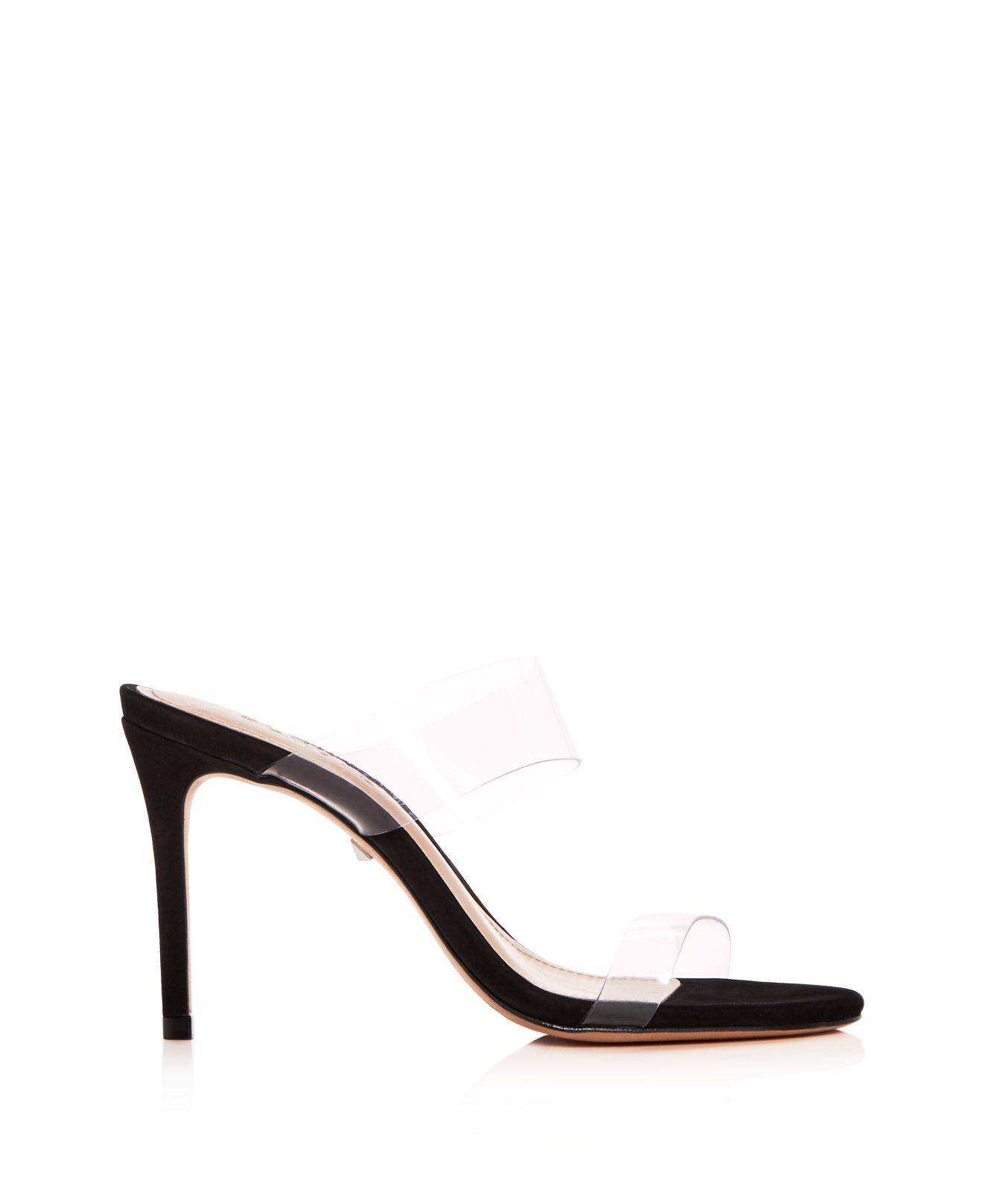 Schutz Women's Ariella Clear Strap High-Heel Slide Sandals U3V9g5LRH
