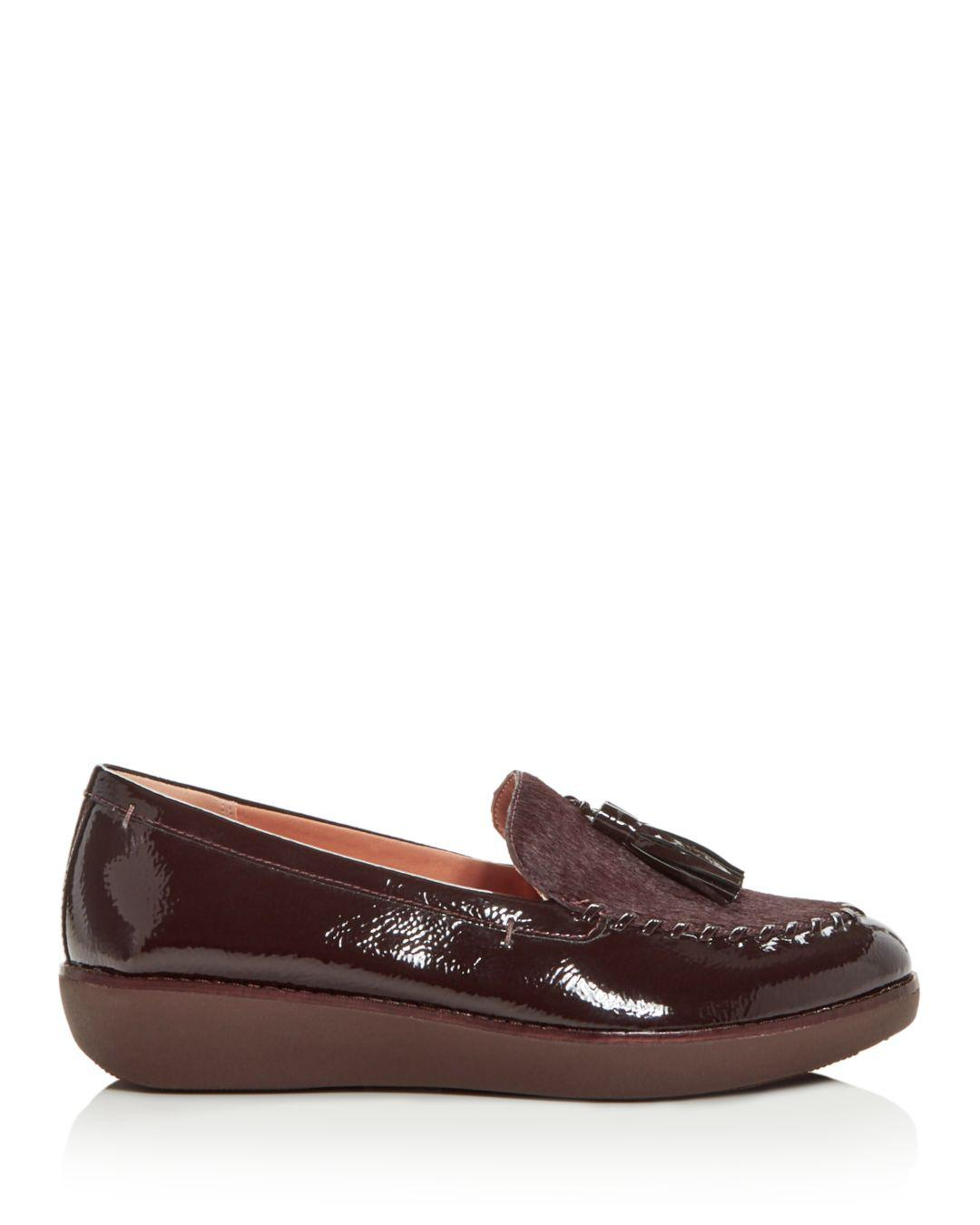 d3527917620 Lyst - Fitflop Women s Petrina Faux Calf Hair Moccasin Loafers