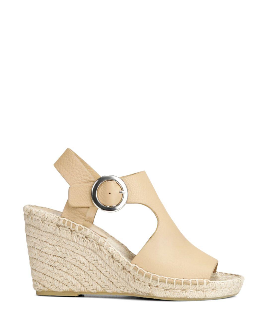 7981db228a31 Via Spiga Women s Nolan Espadrille Wedge Heel Sandals in Natural - Lyst