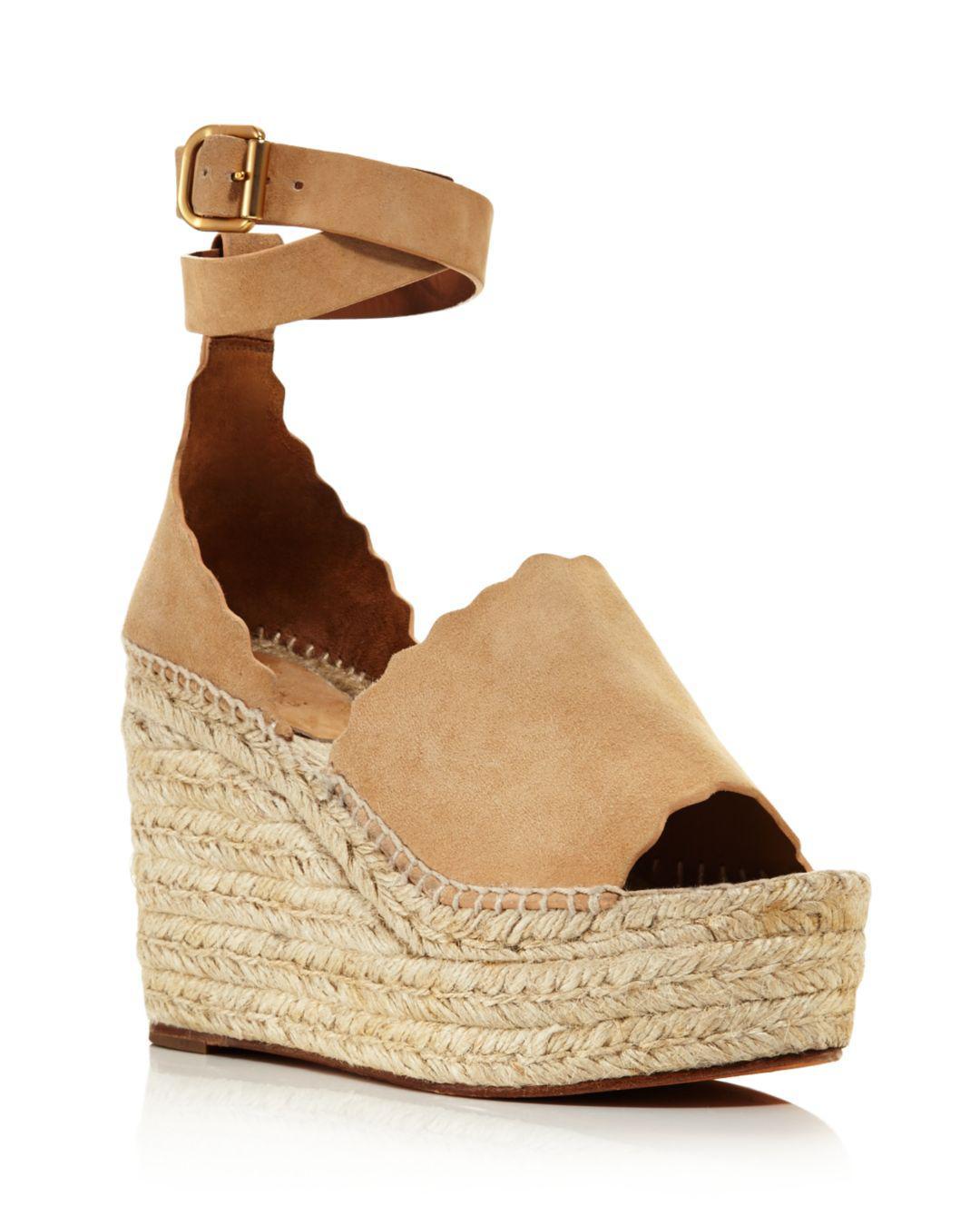 03ccc30e74 Chloé Women's Lauren Espadrille Platform Wedge Sandals - Lyst