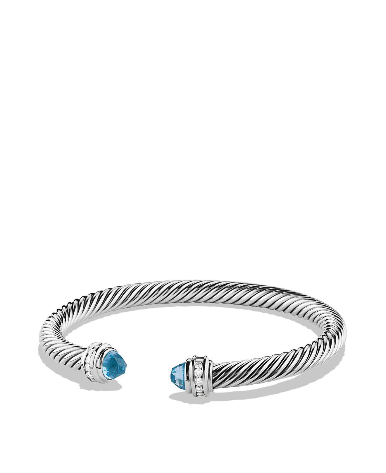 David Yurman Cable Classics onyx and diamond cuff bracelet - Metallic Kabi59U