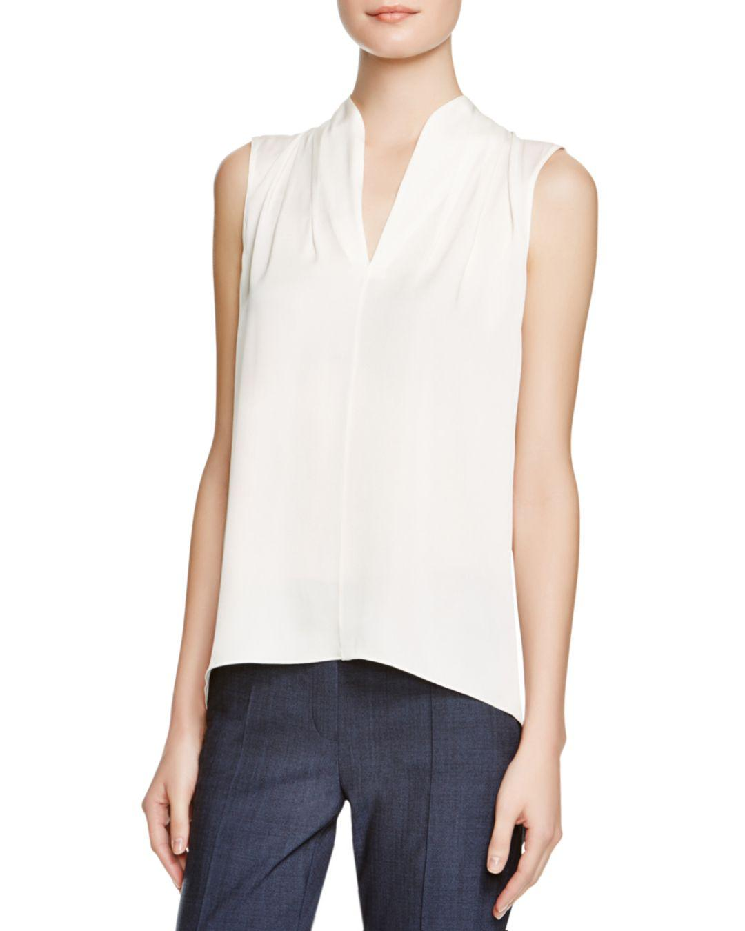 03d5f60622875 Elie Tahari Judith Stretch Silk Blouse in White - Save 15% - Lyst