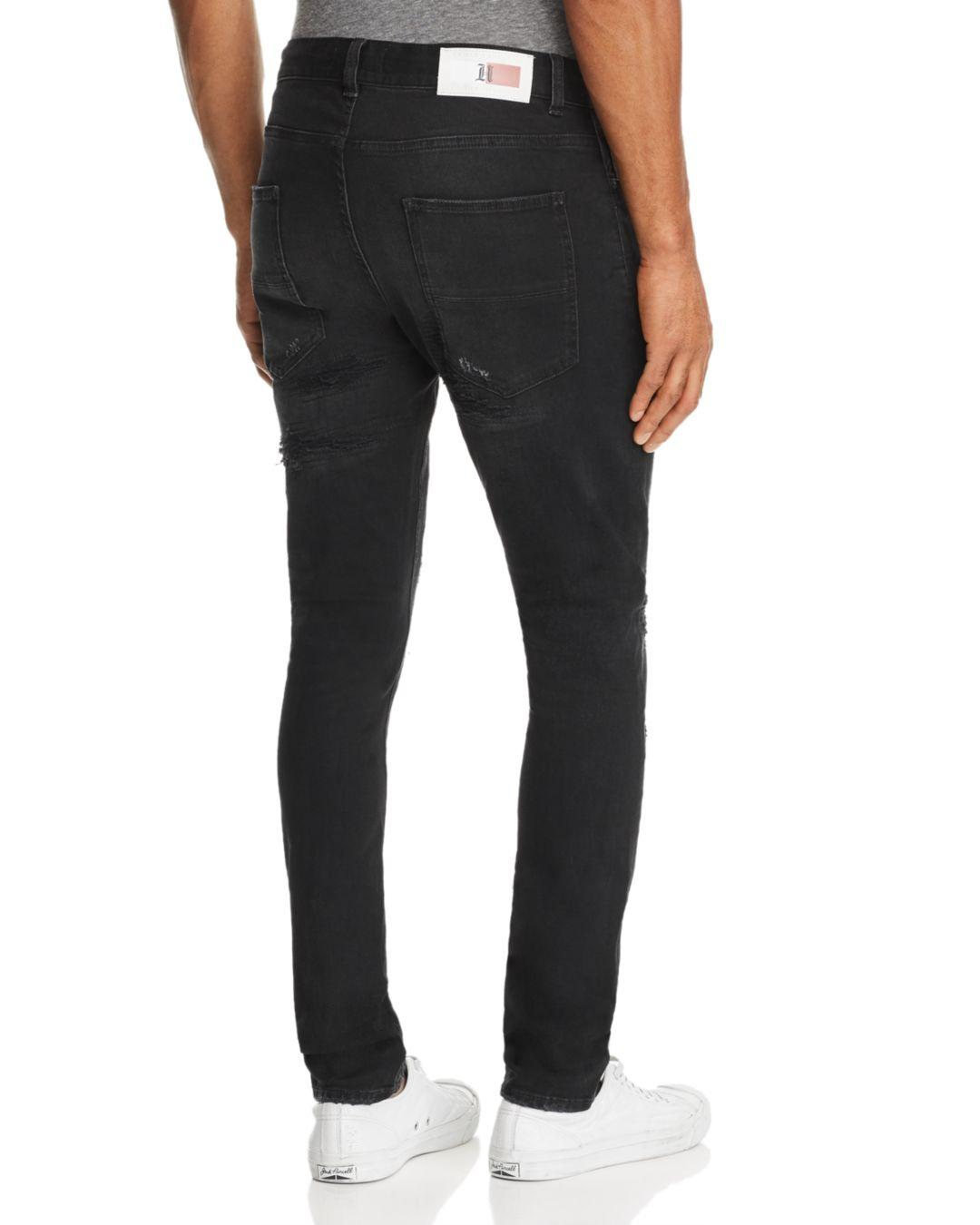 1f513bdc Tommy Hilfiger X Lewis Hamilton Skinny Fit Jeans In Black in Black for Men  - Lyst