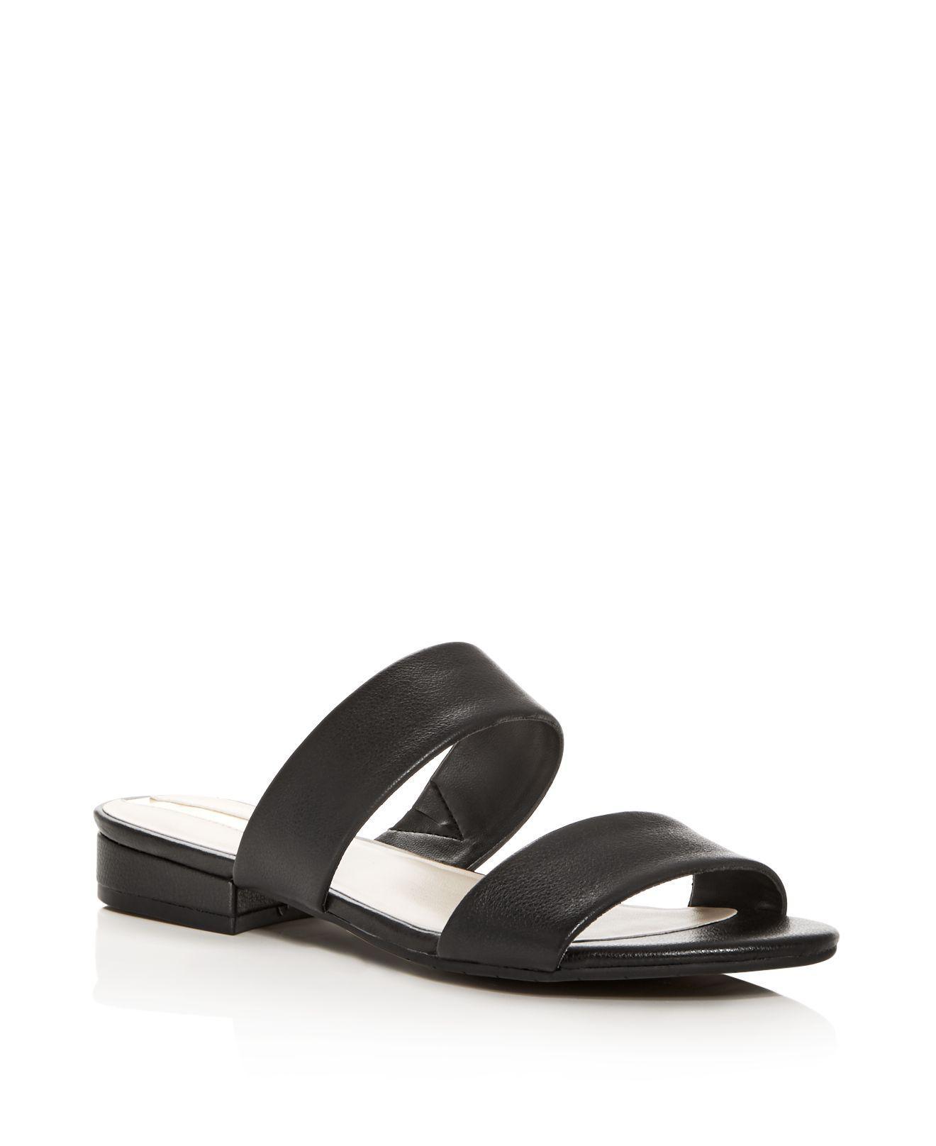 Kenneth Cole Women's Viola Leather Low Heel Slide Sandals vdbcV6jpIU