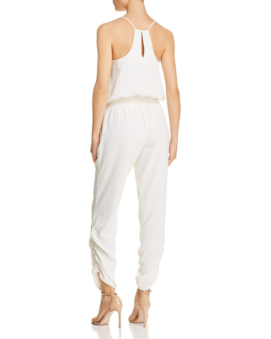 430388aa0f8 Lyst - Amanda Uprichard Lowell Ruched Jumpsuit in White