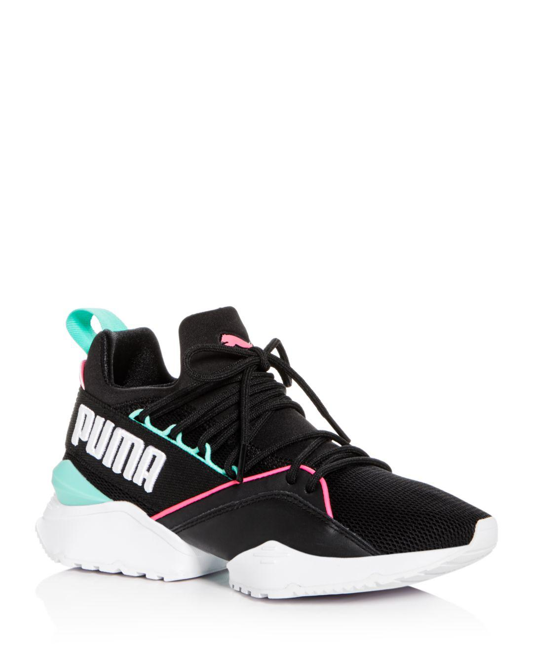 PUMA Women s Muse Maia Street Knit Lace Up Sneakers in Black - Save ... b5656dac6