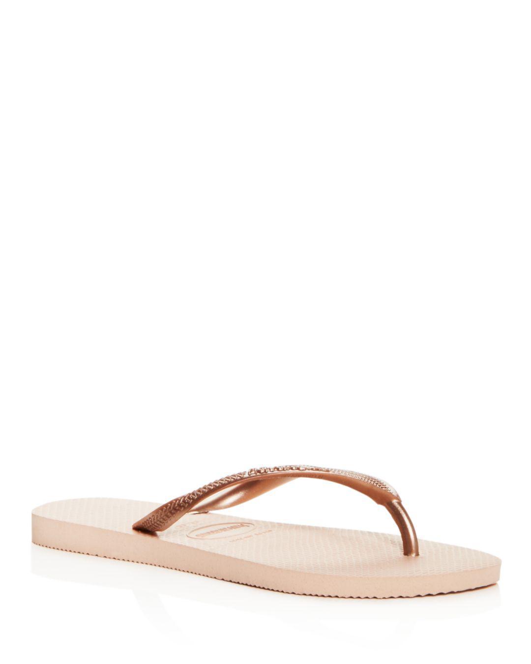 8499d2b7b34a1 Havaianas Women s Slim Flip-flops in Pink - Lyst