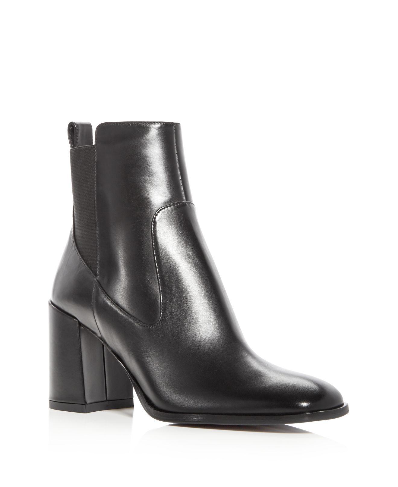 Via Spiga Woman's Delaney Leather High-Heel Booties FbuWGIgX
