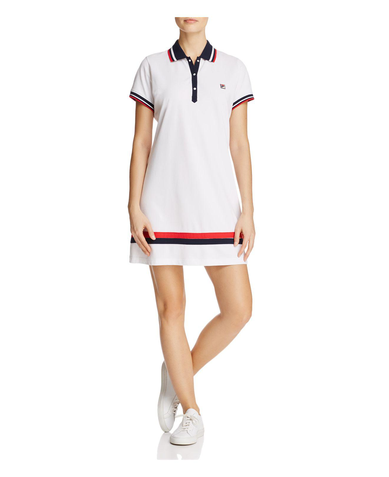 212b9735997f Fila Jennifer Cotton Polo Tennis Dress in White - Lyst