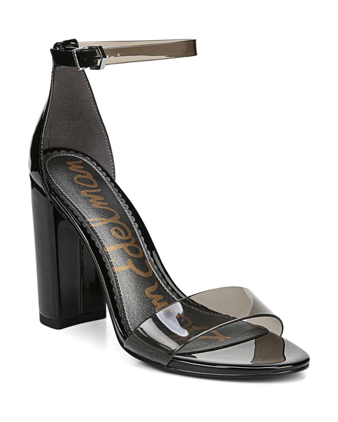 13e1f8a00a1 Sam Edelman Women s Yaro Ankle Strap Block Heel Sandals in Black ...