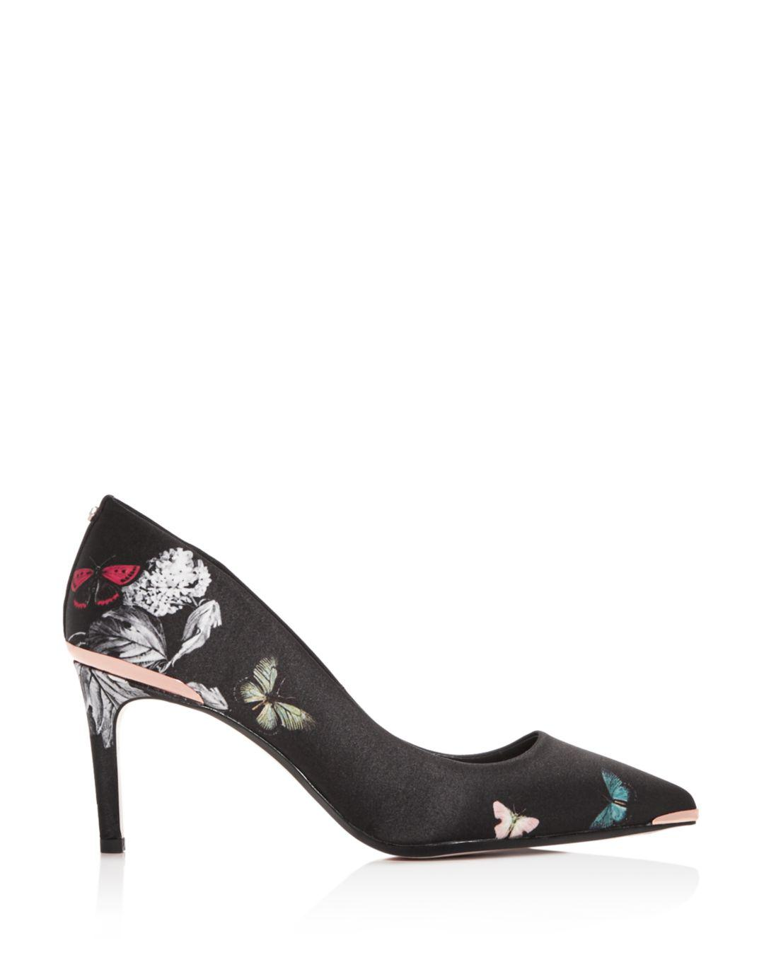 bb33d0a7d1fc2 Lyst - Ted Baker Women s Wishtrip Floral Pointed-toe Pumps in Black