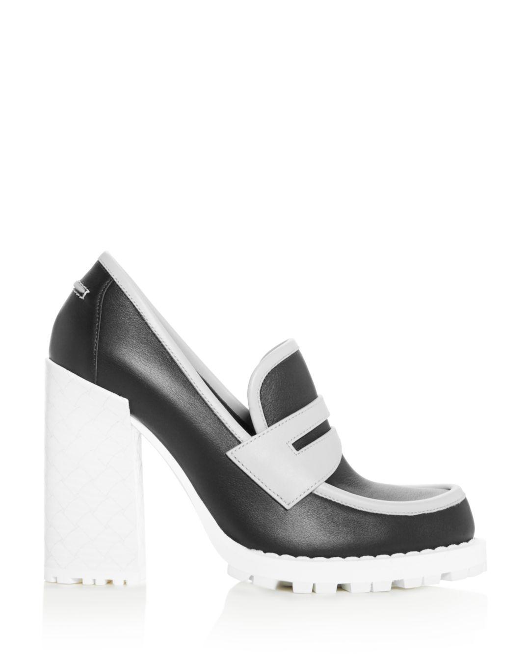 c59f4094277 Lyst - Bottega Veneta Women s High Block-heel Loafers