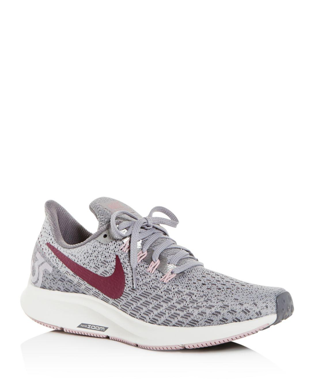 cb0bd3ddc0098 Lyst - Nike Women's Air Zoom Pegasus Knit Low-top Sneakers in Gray