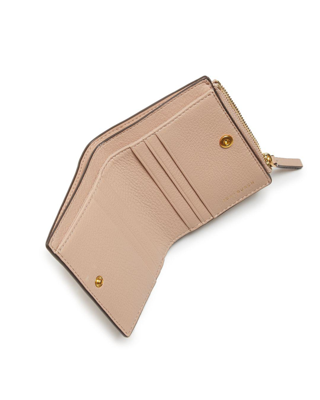 7548edeb47d Tory Burch - Multicolor Mcgraw Mini Foldable Leather Wallet - Lyst. View  fullscreen