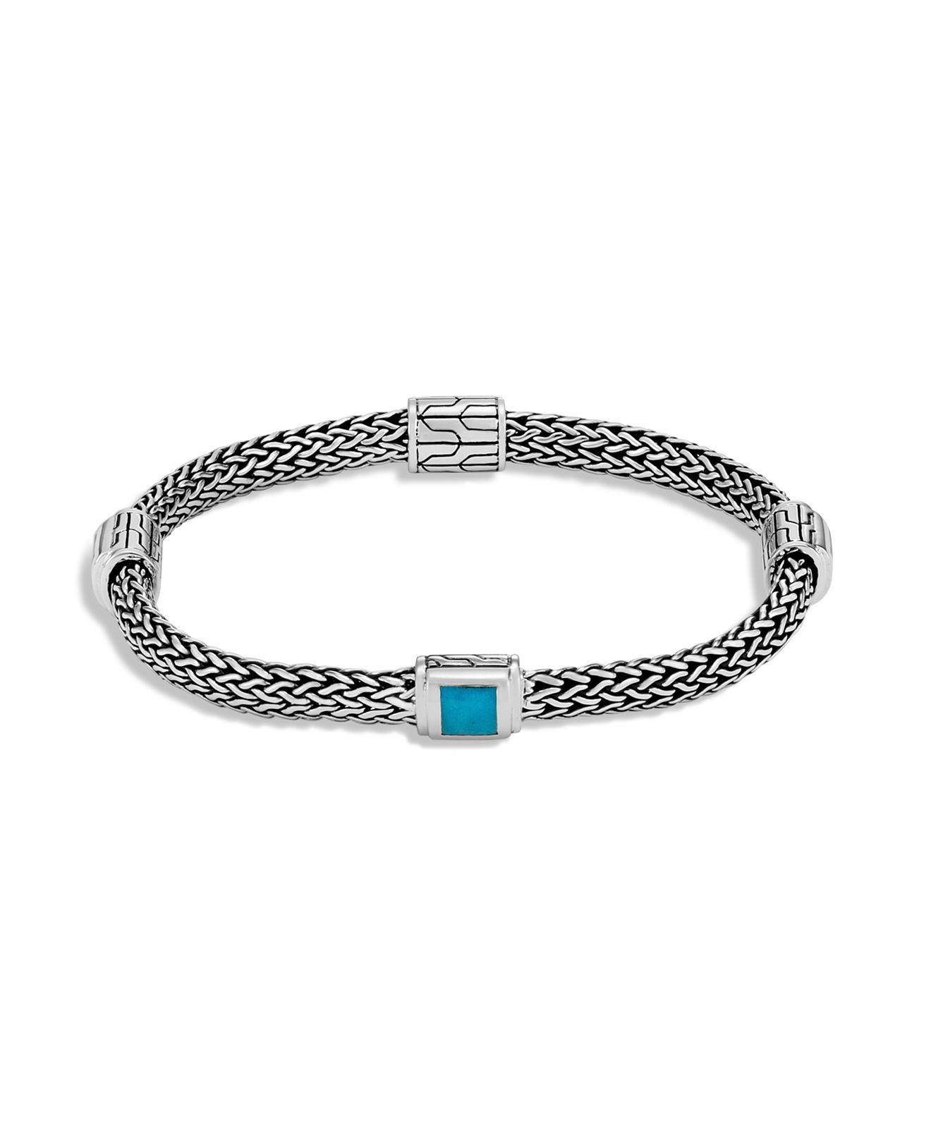 John Hardy Bedeg Silver Extra Small Four-Station Bracelet, Size M