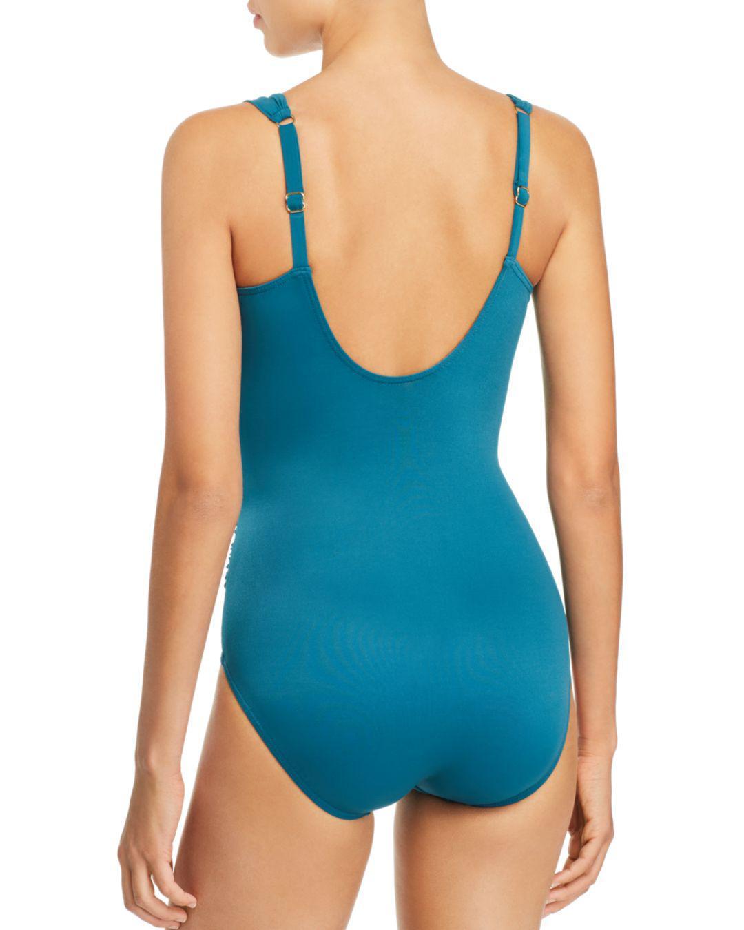 403d9a45b659d Lyst - Miraclesuit Razzle Dazzle Siren One Piece Swimsuit in Blue