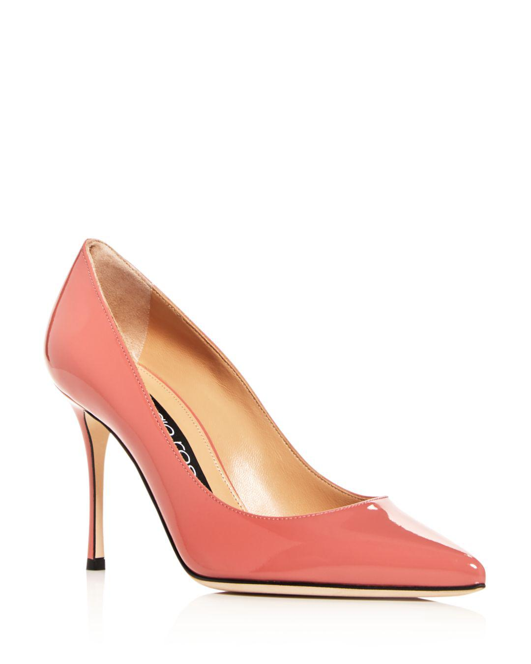 1b3d777a4bf Lyst - Sergio Rossi Women s Godiva Pointed-toe Pumps in Pink