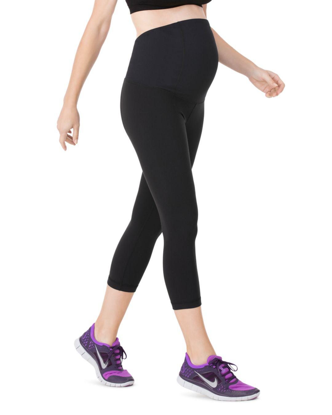 c4e3cb7bbbb606 Ingrid & Isabel Maternity Active Capri Leggings in Black - Lyst
