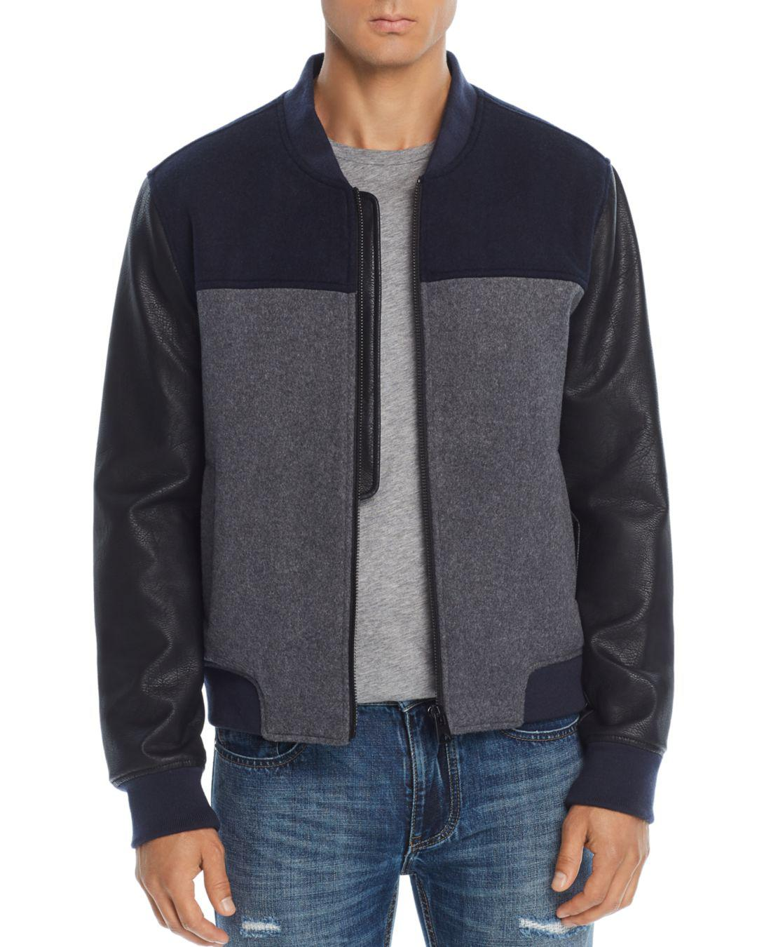 7e256df7b Lyst - Blank NYC Mixed-media Color-block Bomber Jacket for Men
