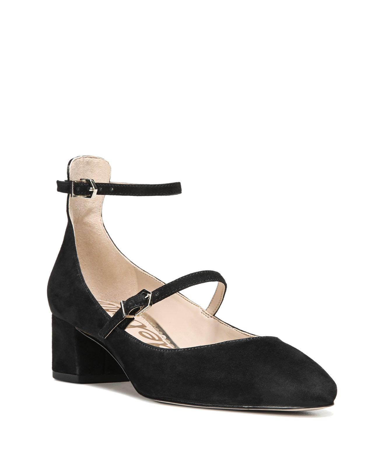 ab9b92e64e16 Sam Edelman Lulie Suede Ankle Strap Mary Jane Pumps in Black - Lyst