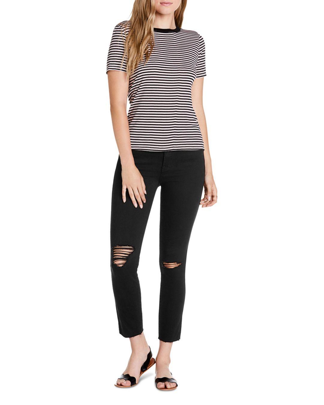 7536b54b991 Lyst - Michael Stars Mady Striped Short-sleeve Tee in Black