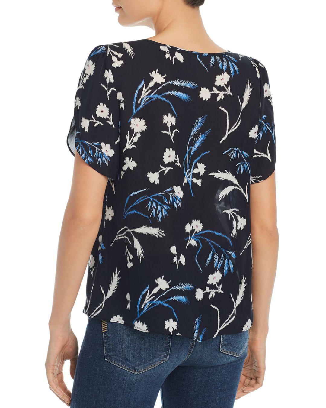 2c19348655f684 Joie Wira Floral - Print Silk Top in Blue - Lyst