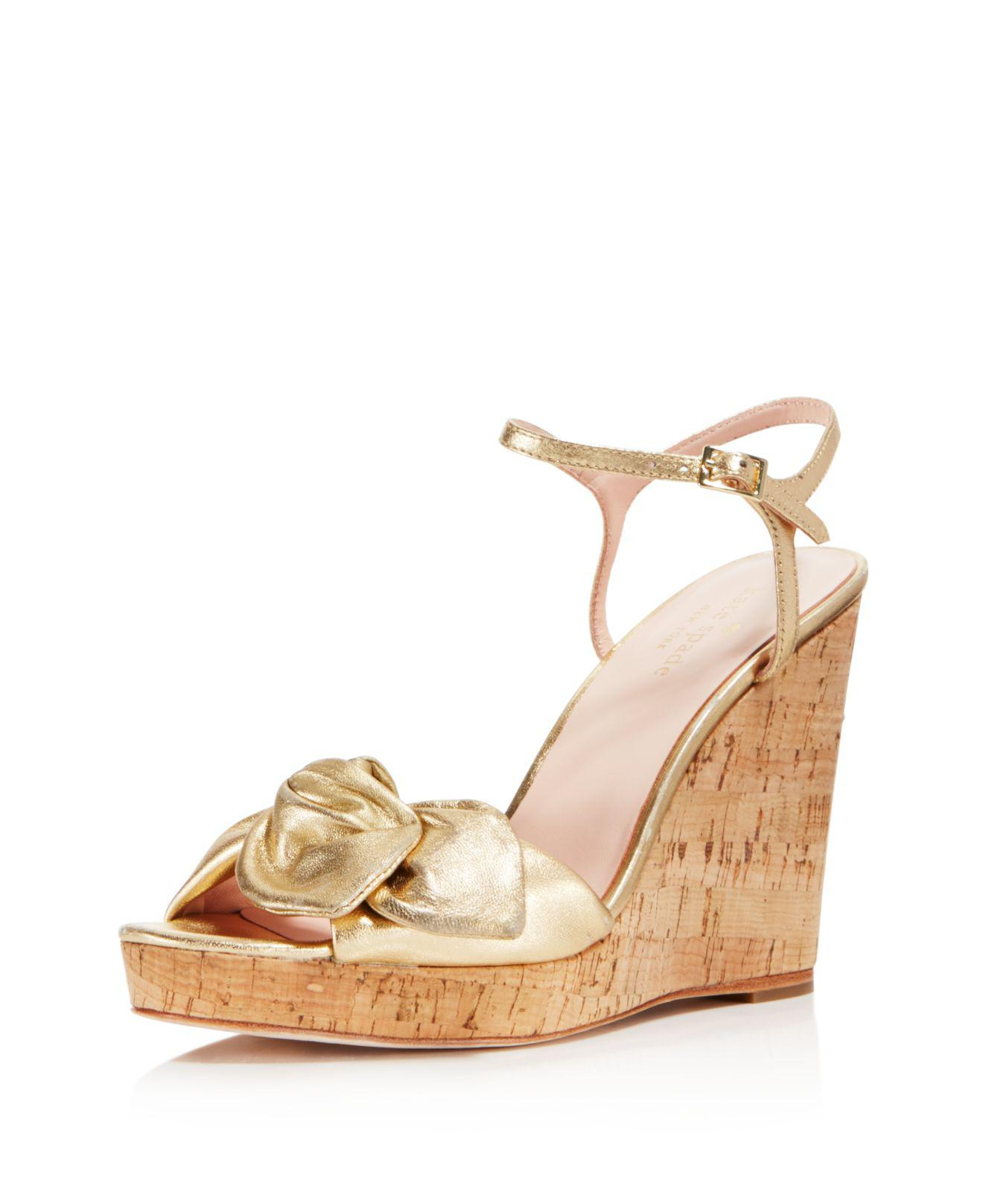 Kate Spade New York Women's Janae Chambray Platform Wedge Sandals