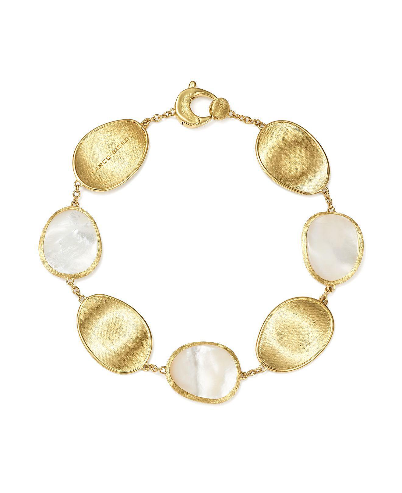 Marco Bicego Lunaria Three-Row Mother-of-Pearl Bracelet with Diamonds shwKJ