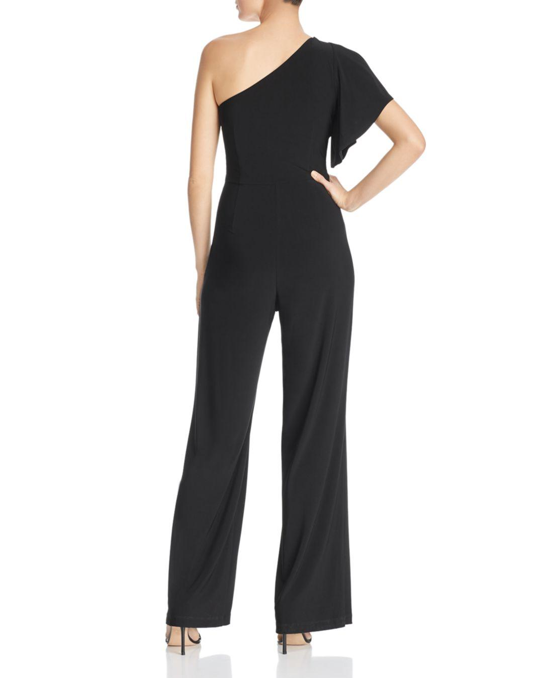 742c9311696 Lyst - Laundry by Shelli Segal One-shoulder Jumpsuit in Black