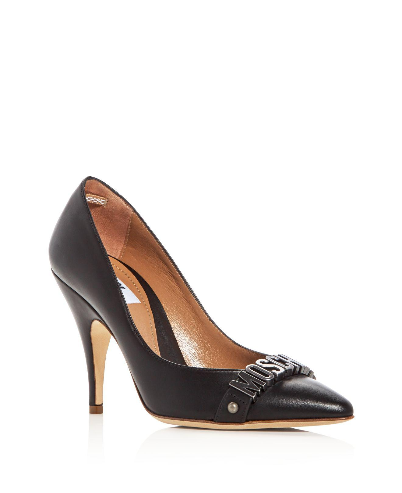 Moschino Brogue Peep-Toe Pumps free shipping finishline outlet collections MAcHBH