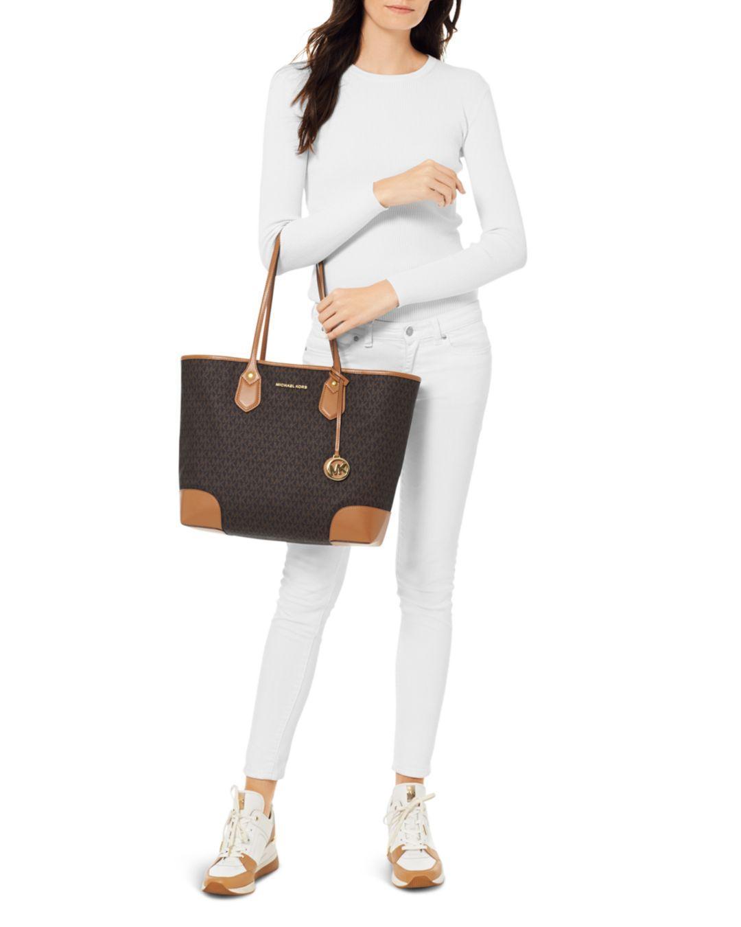 89f8cd015f93 MICHAEL Michael Kors Large Eva Tote Bag in Brown - Save 25% - Lyst