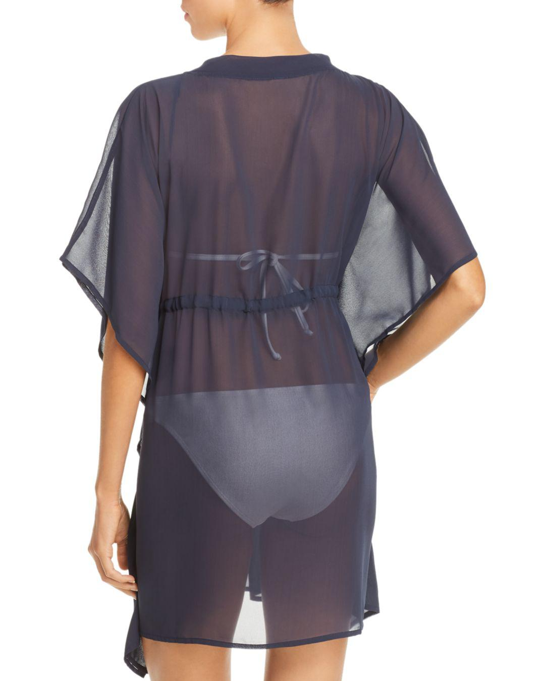 058adfa6c1b07 Lyst - Echo Solid Classic Butterfly Swim Cover-up in Blue