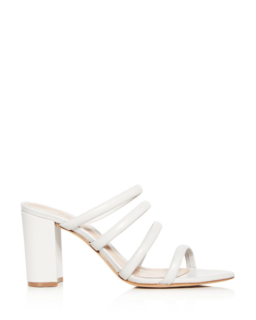 d06759c68010 Lyst - Schutz Women s Felisa Leather High Block-heel Sandals in White