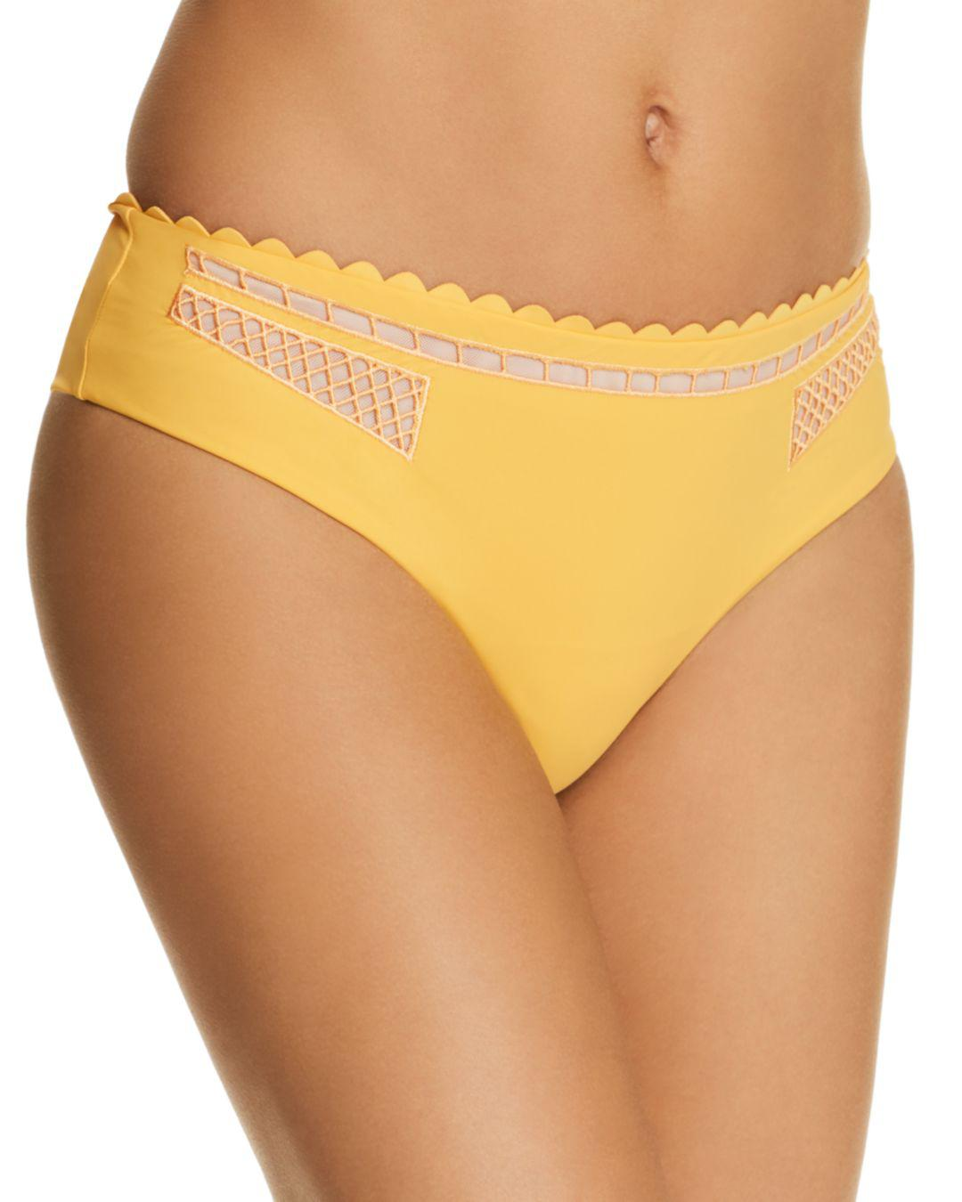Lyst - Red Carter Peek-a-boo Bikini Bottom in Yellow f299a9e32