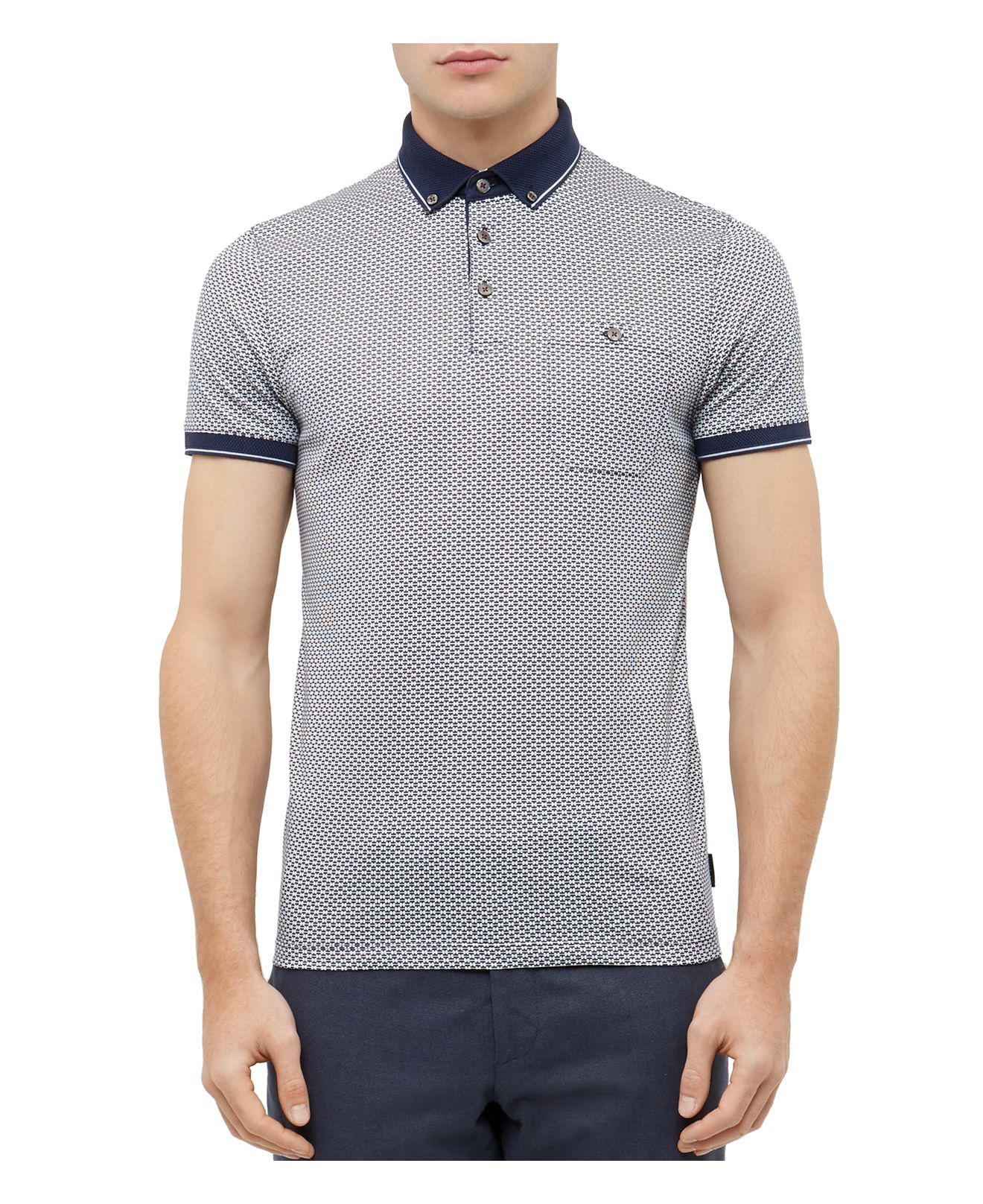 7bfc45a6f Lyst - Ted Baker Enders Regular Fit Polo in Blue for Men